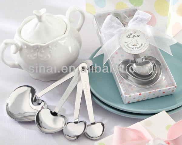 Wedding Favors Stainless Steel Fork and Spoon Set