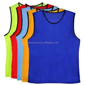 New product promotional custom adult using sleeveless reversible mesh quick dry soccer football training vests