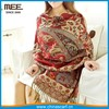 paisley pattern red jacquard pashmina scarves wholesale