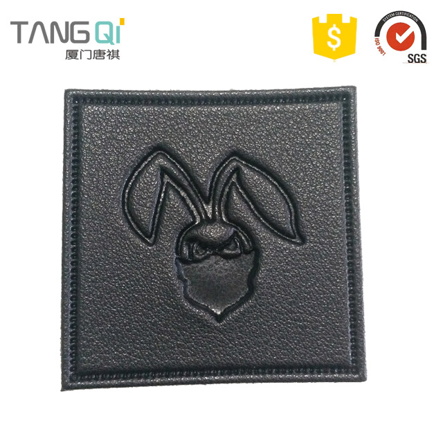 The digital patch luggage fashion faux leather labels