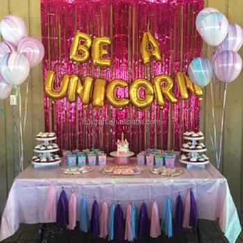 Unicorn Theme Party Decoration 16inch Be A Unicorn Foil Balloon , Buy  Unicorn Foil Balloon Product on Alibaba.com