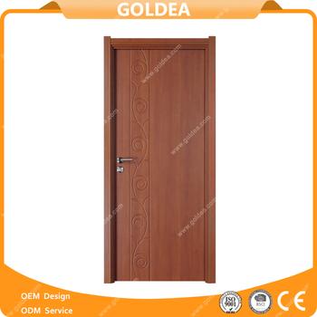 Goldea Wooden Single Door Flower Designs Teak Wood Main Door Designs