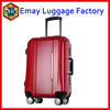 2016 best travel luggage trolley aluminum trolley and frame abs pc hard luggage