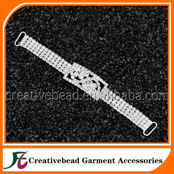 Crystal Rhinestone Bikini Connector Embelishment DIY Rhinestone Buckle Silver Connector
