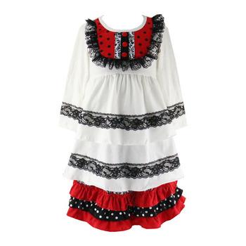 Spotgoedkope Kinderkleding.Classic Baby Meisjes Kostuum Meisjes Vlakte Remake Jurken Goedkope