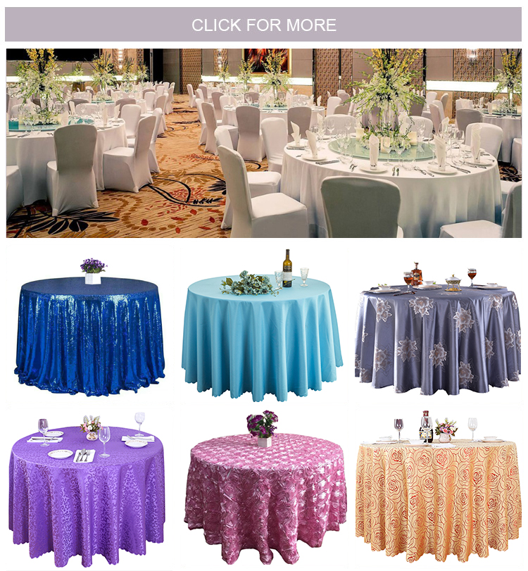elegant hotel fancy table cloth,round hotel tablecloth table linen