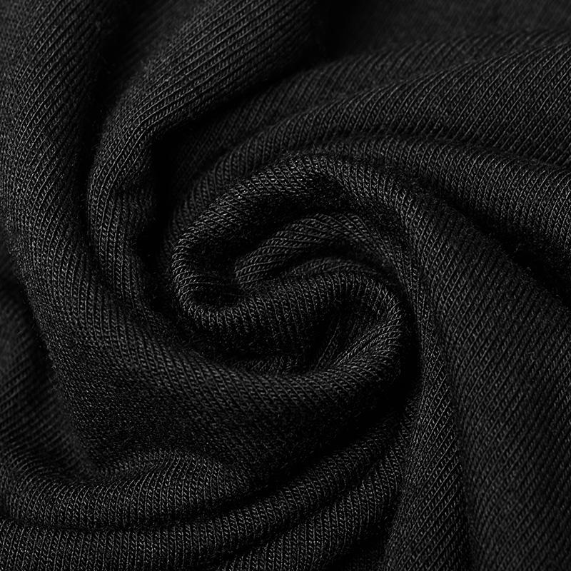 PUNK RAVE Siyah yüksek kaliteli örgü yelek seksi moda kadın siyah toptan t-shirt