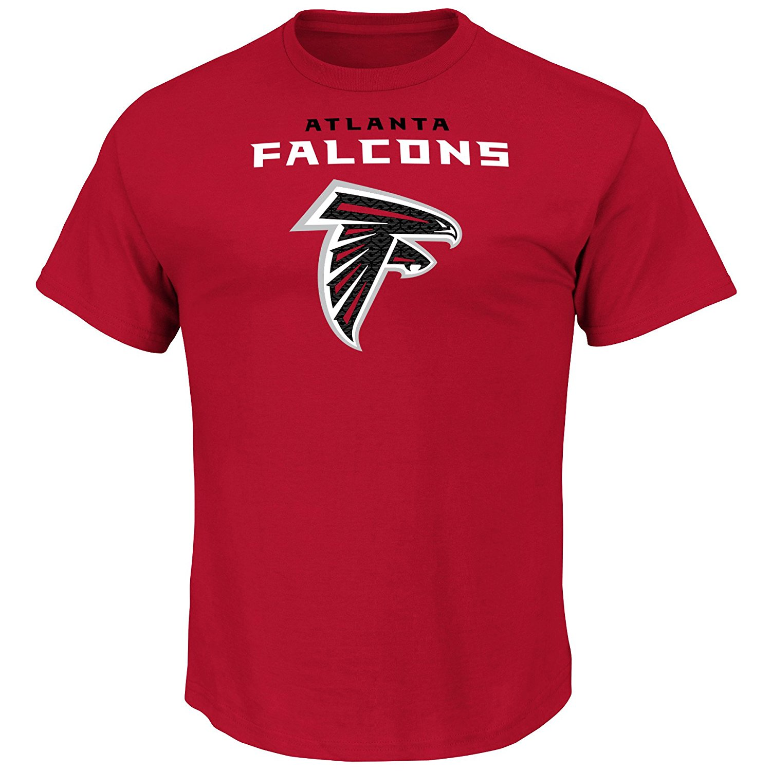 NFL Atlanta Falcons Unisex Team Logo Screen print on Chest, Red, 4X