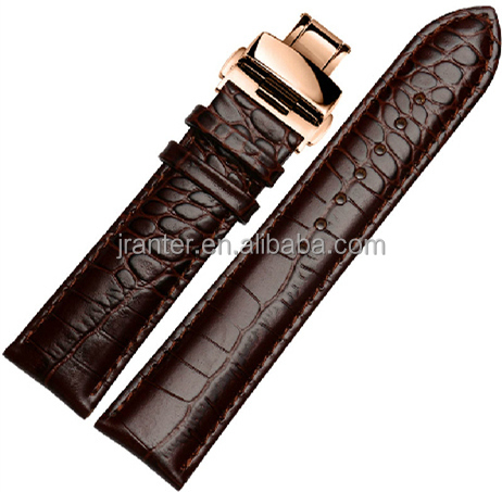 China Wholesale 27mm Watch Strap 100% Genuine Alligator Leather