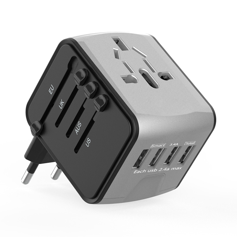 Best selling mobiele accessoires UK plug universele adapter ac dc adapter travel adapter met usb-poort