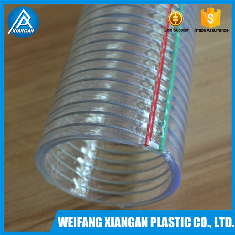 PVC steel wire reinforced suction hose suitable for vacuum cleaner