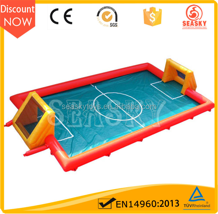 SK Cheap inflatable Soap football field,inflatable soap soccer field for sale
