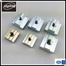 6mm, 8mm and 10mm groove aluminum extrusions t slot nut