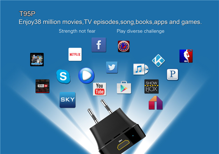 hot sale T95P S905X 2g 8g android 6.0 tv box octacore manufactured in China AD player TV BOX