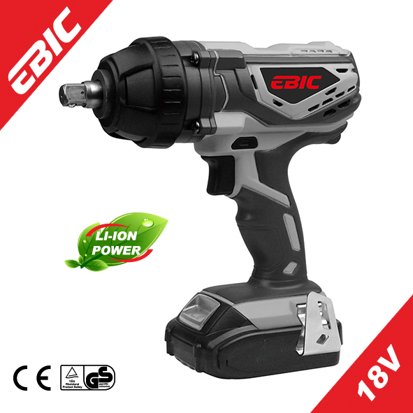 EBIC Power Tool 18V Electric Cordless Impact ratchet Wrench