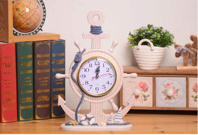 Mediterranean <font><b>home</b></font> <font><b>decoration</b></font> helmsman modeling clock creative <font><b>home</b></font> accessories Gifts & Crafts 24 * 32 * 8.5