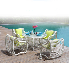 Wicker Outdoor Furniture Restaurant Tables And Chairs / Outdoor Garden Furniture Z369