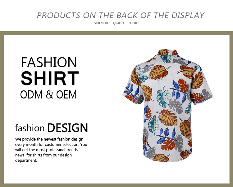 Competitive price comfortable men floral printed bangkok hawaian shirts
