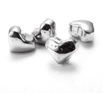 1PCS Reusable Stainless Steel Ice Cube Metal Whiskey Stones for Drinks Heart Shaped