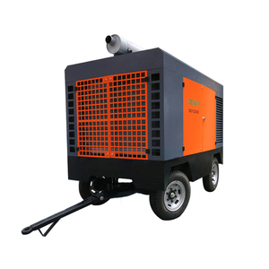 mobile portable diesel driven air cooled 125 cfm screw compressor