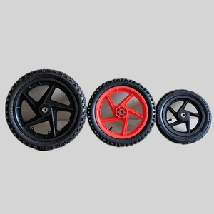 "12"" 14"" 16"" plastic spoke wheels rims with pneumatic tire"