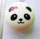Promotion gifts cute PU slow rising round bread super funny expression squeeze toy