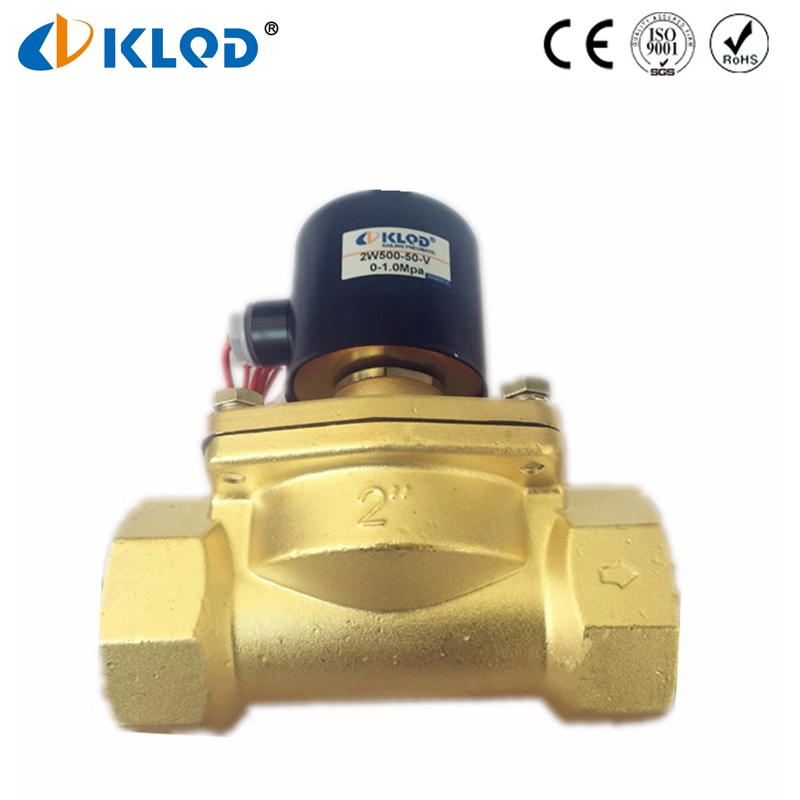 Viton Sealing 2W500-50-V Direct Acting Diaphragm Brass Solenoid Valve