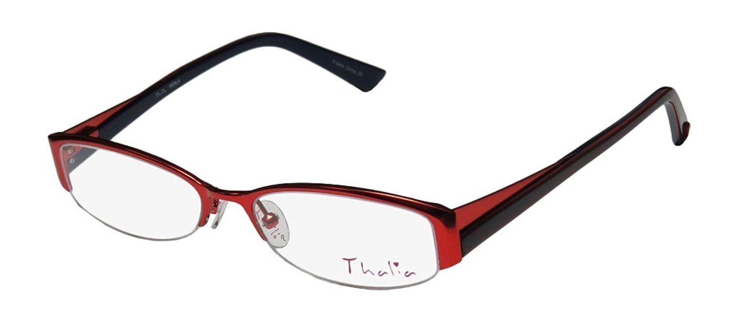 de6bdb161da8 Get Quotations · Thalia Perla Womens Ladies Designer Half-rim Spring Hinges  Eyeglasses Eye Glasses