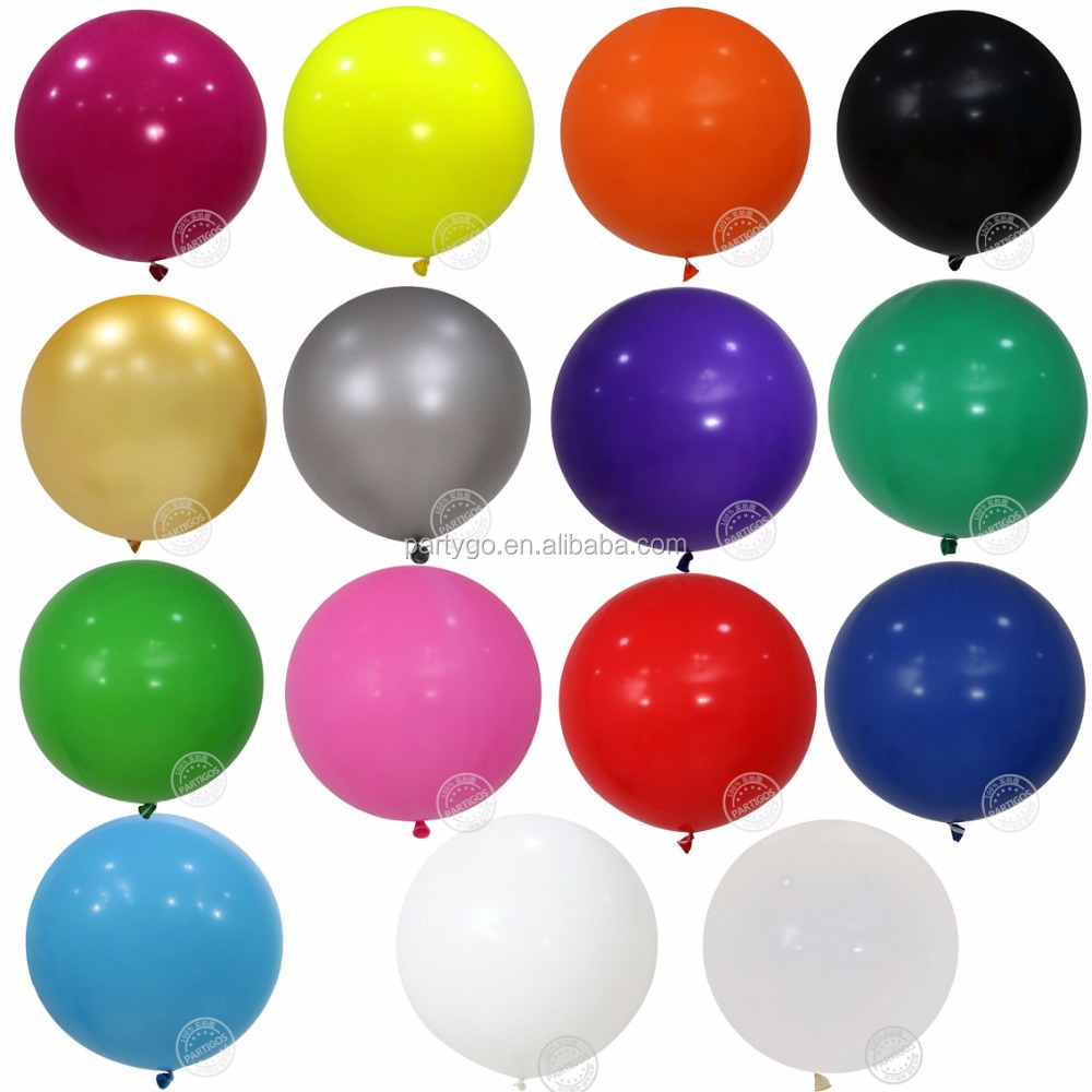 36 Inch Large Giant Perfet Round big latex Balloon deration and gift in wedding and valentine's day