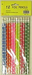 Foil Pencils - 12 pack - asst. designs 48 pcs sku# 92902MA