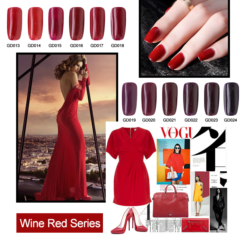 Red Wine Color And Gray Color Series Uv Gel Nail Polish Buy Red Wine Color And Gray Color Series Uv Gel Nail Polish For Salon Red Wine Color And