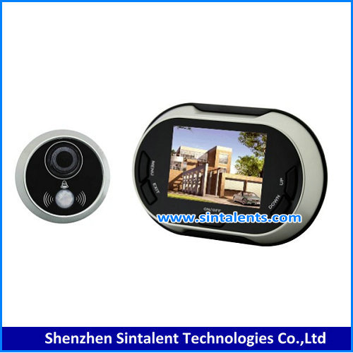 "2017 the newest digital motion detection recordable door eye hole camera with 4.3"" monitor"