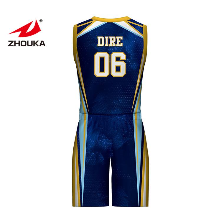 3d634793892 China Customized Sublimation Basketball Uniform