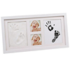 Wholesale wooden custom size baby handprint kit and footprint frame for decor