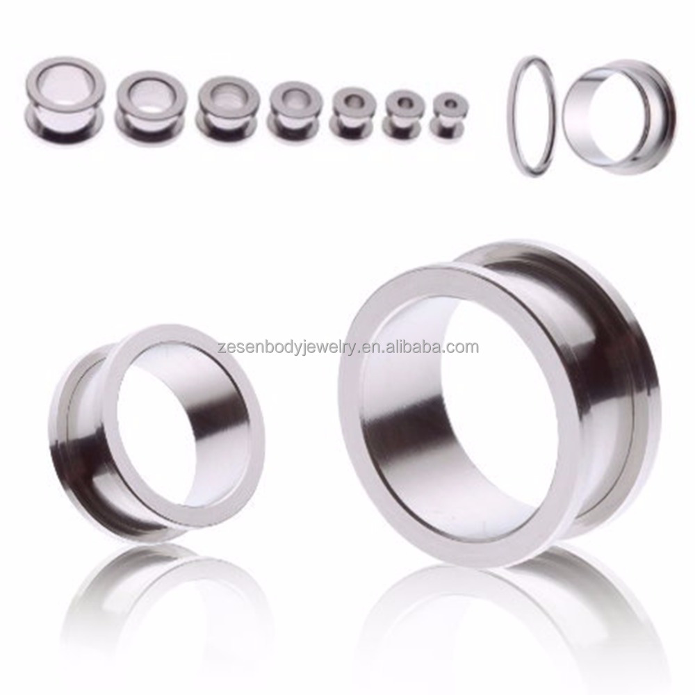 Stainless Steel abalone screw fit ear flesh tunnel , gay flesh tunnel piercing , ear plug flesh tunnel