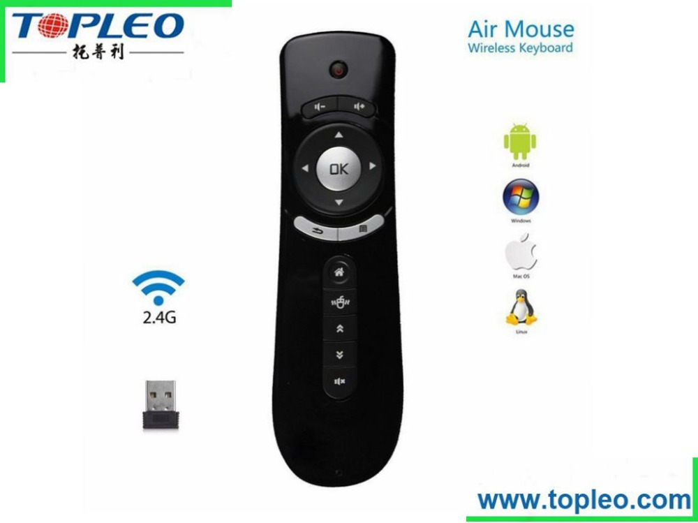 factory direct selling! Wireless 2.4GHz T2 for Android Tv BOX With 1G RAM And 8G Flash Air Fly Mouse