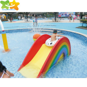 kids small water slide rainbow aqua park for amusement park