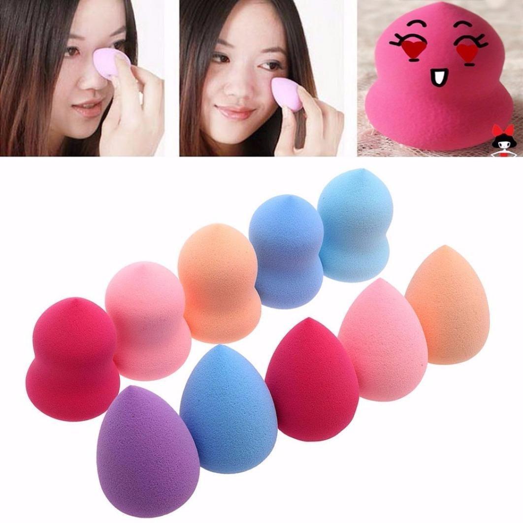 Clean Face Powder Sponges, TOOPOOT 10PC Pro Beauty Flawless Sponge Multi Shape Makeup Puff
