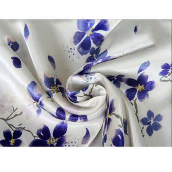 Printed Polyester Satin Chiffon Tissu For Dress