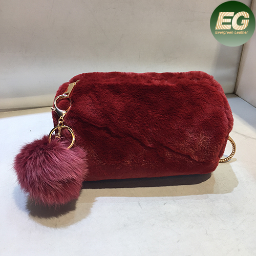 European style 2017 fashion artificial fur handbag beautiful women's winter shoulder bags SY8029