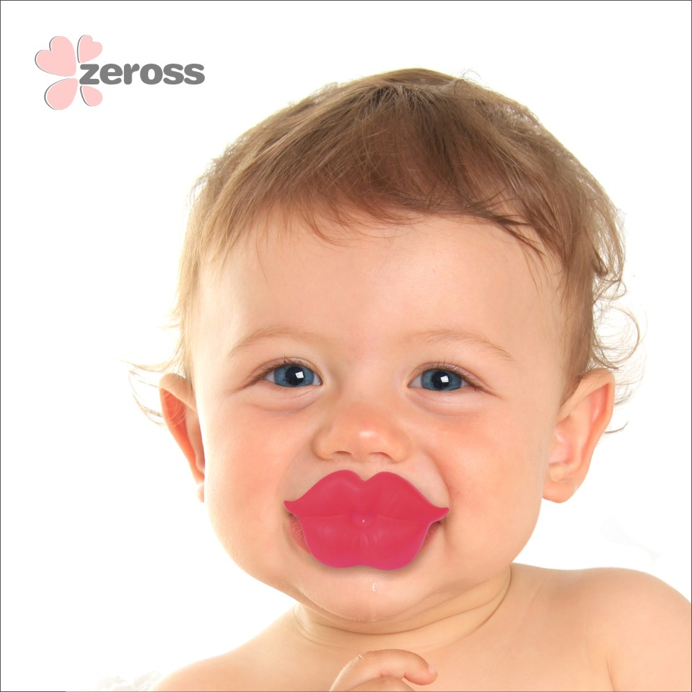 2018 China Wholesale cute Lip shape silicone Nipple Baby Pacifier