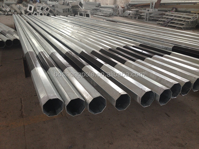 Galvanized Steel Metal Poles with Black Bituminous