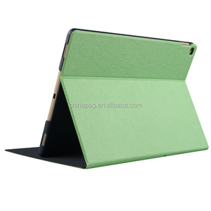 Folio Fold Printed Slim Smart pu leather Stamping silk Texture Protective tablet case for ipad pro 12.9