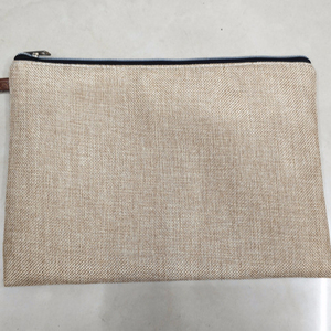 Wholesale Blank Jute Burlap Cosmetic Bag