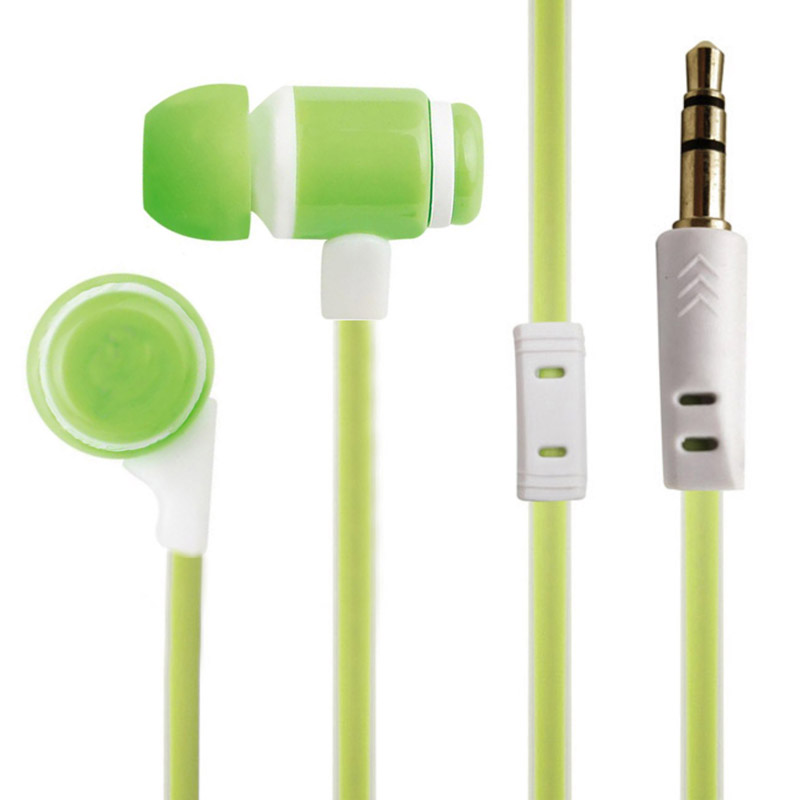 Noise Cancelling Clear Stereo Sound Wired Rohs Green Earbuds