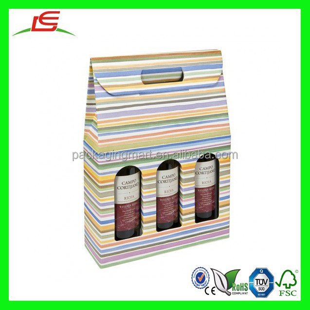 n906 personnalis carton bo te de 3 bouteilles d coration de no l bouteille de vin cadeau box. Black Bedroom Furniture Sets. Home Design Ideas