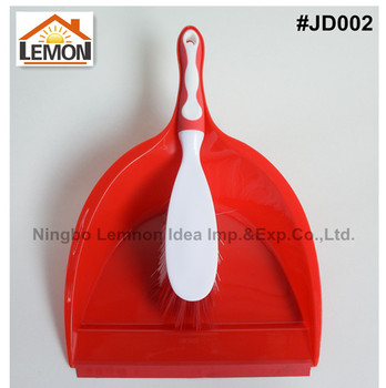 popular plastic cleaning tool cleaner rubber handle whisk dust pan set with brush