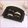 Black velvet sofa-style wooden jewelry display tray, bracelet rings Tray
