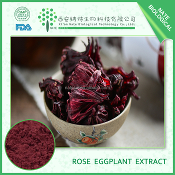 100% Natural Rose Eggplant Extract and Roselle Extract Powder 5%