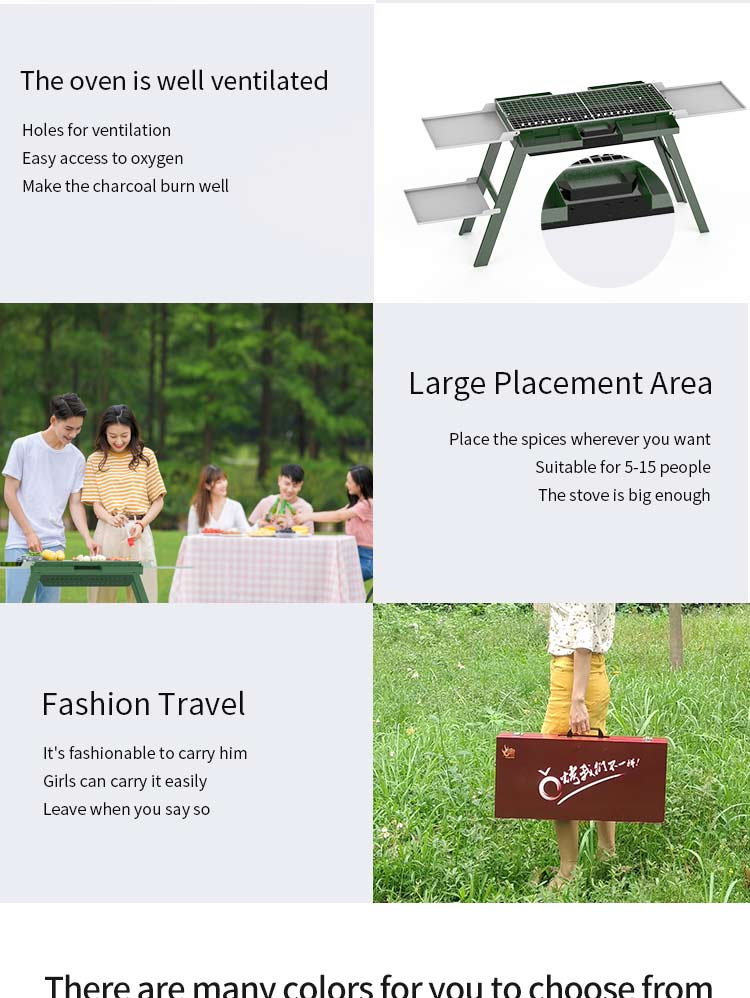 Portable Outdoor Grill BBQ Charcoal Picnic Camping